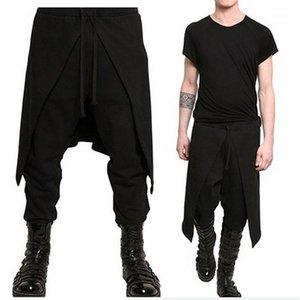 Мужская стильная юбка мужская гарема повседневные пансионные брюки Drawstring Beashgy брюки брюки свободные пробежки Hiphop танцевальные штаны спортивные штаны Hombre1 JWI3