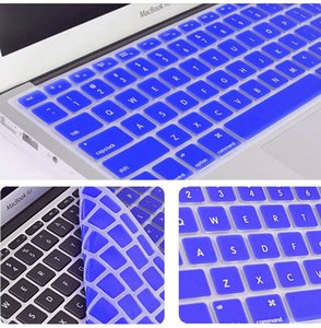 Colorful Laptop Soft Silicone KeyBoard Case Protector Cover Skin For MacBook 11 12 13 15 Touch Bar Waterproof Dustproof with Ret