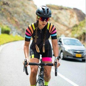Racing Sets Kafiteam Женщина Одежда 2021 Летние Женщины Велоспорт Джерси Скинсуитный Комбинезон Блузка Велосипедистские Рубашки Женская Обезьяна Набор Триатлон