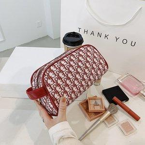 Handbag bags Simple net red cosmetics storage Pu Travel Makeup Bag high capacity Korean girls' portable