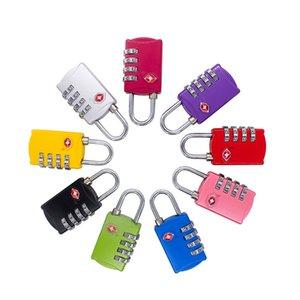 Door Locks Customs Luggage Padlock TSA309 Resettable Digit Combination Padlock Suitcase Travel Lock TSA locksZC547
