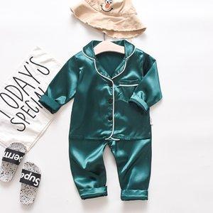 유아 아기 소년 긴 소매 용 Sleepwear 복장 + 바지 잠옷 잠옷 소프트 느낌 달콤한 수면복 Y81 193 Y2