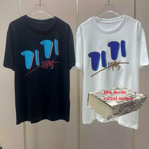 Tshirts Herren Brief Druck T-shirts Herren Rundhalsausschnitt Tees Junge Mode Straße T-Shirt Sommer Atmungsaktives T-Shirt Hohe Qualität Tops Casual Tops
