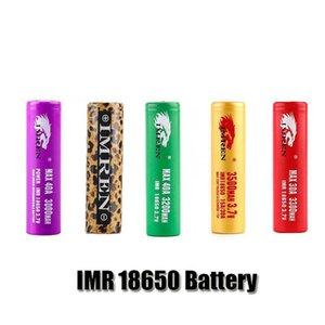 Top Qualité IMR 18650 Batterie 3000MAH 3300MAH 3300MAH 3300MAH 37V 30A 50A Gold Léopard Imprimer Rechargeable Boîte de Vape Mod piles au lithium piles cellules
