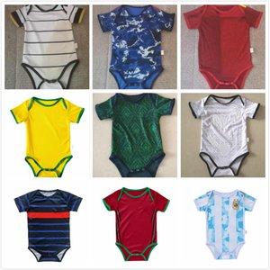 아기 키트 축구 유니폼 이탈리아 스페인 일본 Mecixo 아르헨티나 정장 2021 2022 월 소년 아이가 아이들 축구 셔츠 최고 품질을 설정합니다