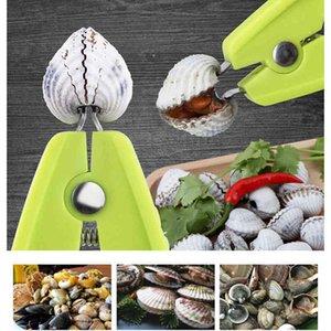 Multifunktionale Muschelmutter Öffnungsgerät Zinklegierung Walnuss Clam Clip Kunststoff Clamöffnungsgerät Geschirr Kitchen Tool Gadget VT0351