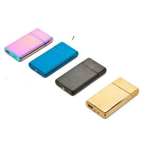 USB Charging Lighter Personalized Metal Intelligent Double-Sided Electric Wire Cigarette Lighters SEA NHC7324