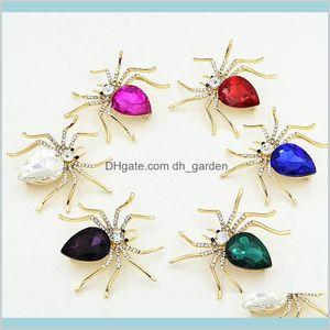 Unique Design Spider Cz Diamond Brooch Attractive Crystal Pin For Women Men Fine Jewelry Gift 9Iopx Pins Yhgd0