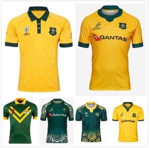 18 19 20 21 Austrália Rugby Jerseys Home Away Kangaroos Wallaby Tamanho S-3XL Maillot de National League