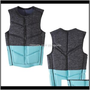 & Buoy Adult Life Vest Men Women'S Neoprene Aid Jacket For Swim Surf Fishing Ski Boating Watersports Qauxk Qulfx