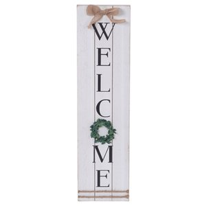 Vertical Wooden Signs for Home Decor Farmhouse Vertical Wood Framed Sign for Home Decor, Gallery Wall Art,WELCOME Plaque Wall Hanging Sign