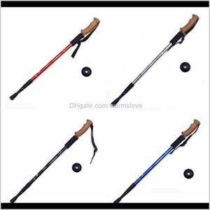 Outdoors Trumpet Cork Trekking Poles Ultra Light Telescopic Alpenstock Multi Function Straight Handle Hiking Walking Stick Cca2499 Hus Rshkm