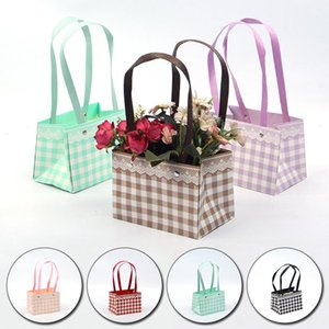 Flower Tote Bag Folding Box Waterproof Arrangement Packaging Portable Gift Wrap