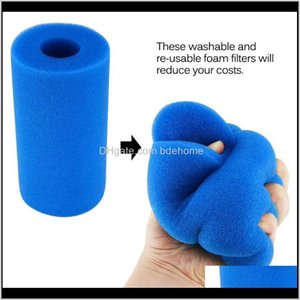 High Density Washable Accessories Swimming Pool Filter Foam Cleaner Reusable Portable Sponge Bubble Durable For Intex Type A Zk0L7 Ch6Hz