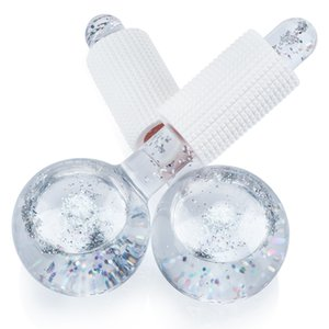 1 Set Face Globes Cooling Roller Ball for Facial and Eye Massage Beauty Ice Hockey Energy Crystal Balls Water Wave Skin Care Tools