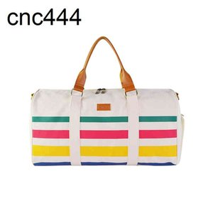 Vietnam High Quality Canvas Duffel Rainbow Stripes Travel Bag Wholesale with Low Price 2021 Latest Weekend Bags