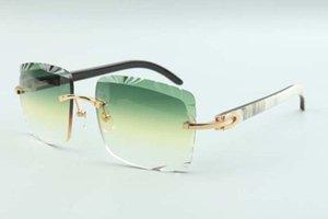 2021 직접 판매 고품질 절단 렌즈 선글라스 3524020, 하이브리드 혼 사원 안경, 크기 : 58-18-140mm