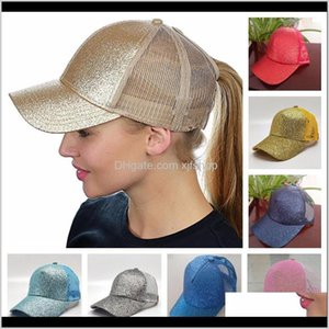 Snapbacks Caps Headwears Athletic Outdoor Accs Sports Outdoors Drop Delivery 2021 Adjustable Unisex Ponytail Baseball Softball Hats Back Hole