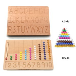 Montessori baby toy, double-sided board, with letters, numbers, fine motor, d1444h