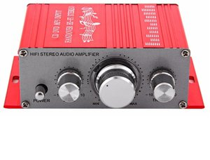 2021 new Mini Auto Car Stereo Amplifier 2 Channel Audio Support CD DVD MP3 Input for Nehicle Trunk Motorcycle Hi-Fi 12V Audio Player Free