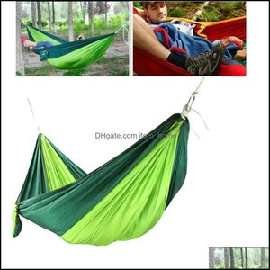 Hammocks Outdoor Furniture Home & Garden36 Colors 230*90Cm Nylon Single Person Parachute Fabric For Travel Hiking Backpacking Cam Hammock Sw
