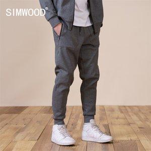 Simwood Bahar Yeni Jogger Pantolon Erkekler Slim Fit İpli Artı Boyutu Rahat Sweatpants SJ131141 210406