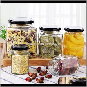 Бутылки JARS Unificate Организация Главная Сад Drop Доставка 2021 Кухня Многофункциональная Можно Прозрачное Стеклянное Зерновые Специи Специи Ботт