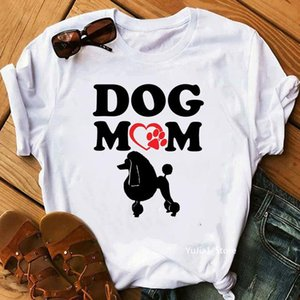 Harajuku Kawaii Poodle Dog Mom Print Funny T Shirts Femme Summer Top Female T-shirt Graphic Tees Pet Lover Friends Gift Women's