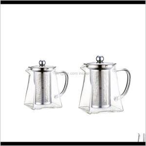 Teapots 260 450Ml 2Pcs Glass Pot With Removable Infuserfor Loose Leaf Tea Lsxwd Elkta