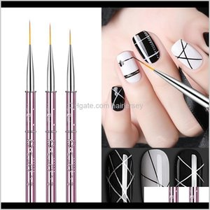 Brushes Tools Salon Health Beauty Drop Delivery 2021 Fingerqueen 1Pc Pure Sable Kolinsky Manicure Art Liner Brush Paint Nail Ding Painting Fl
