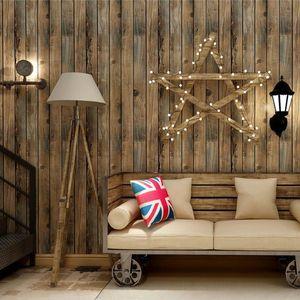 Wallpapers Vintage Waterproof Wood Wallpaper Roll Diy Self Adhesive Peel And Stick Living Room Bedding Wall Decor