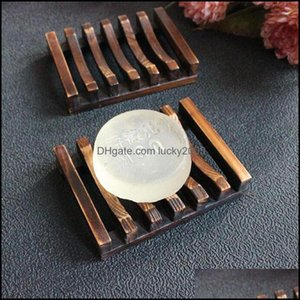 Bath & Gardenvintage Style Tray Handmade Wood Dish Box Wooden Soap Dishes As Holder Home Bathroom Aessories Drop Delivery 2021 9Yfjv