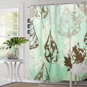 Shower Curtains Country Style Wholesale Eco-friendly 100% Polyester Flower Design Digital Printing Waterproof Curtain