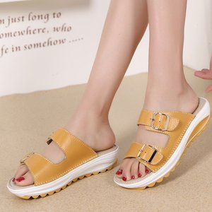 sandals Fashion to see women's sandals wedges sexy lady leather slippers platform shoes with com ert56 594B