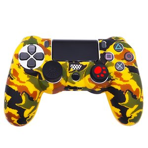 Camo Silicon Case Cover Sockproof Colorful Protective Rubber Skin Protector for Sony PS4 Wireless Controllers Play Station 4