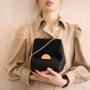 Crossbody Valenkuci Kadınlar Deri Marka Retro Lady Fransa Ünlü Çanta Zarif Lüks Tasarımcı Kova Çanta Çanta Zincir Çanta