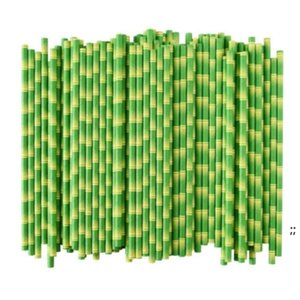 Biodegradable Bamboo Straw Paper Green Straws Eco Friendly 25 Pcs a Lot on Promotion OWE5743