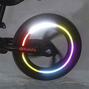 10 Pcs Bike Reflective Stickers Waterproof Tire Applique Tape Safety Bright Strips Bicycle Wheel For Children Balance Bicycle 421 Z2