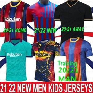 10 Messi 20 21 22 22 Mailoots Футбольная рубашка Футбол Джерси 17 Griezmann F. de Jong Pique Suarez Dembele Cuatinho Men Kid Kit