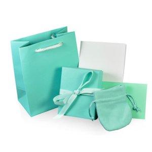 NEW Charm Original Classic Bracelet Ring Earrings Jewelry Gift Protection Box Set Ornament Bag Handbag Wipe Cloth Fashion