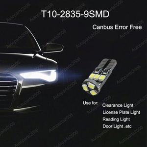 50Pcs Lot T10 2835 9SMD LED Canbus Error Free Car Bulb Replacement Lights 168 194 2825 Clearance Lamp License Plate Light 12V