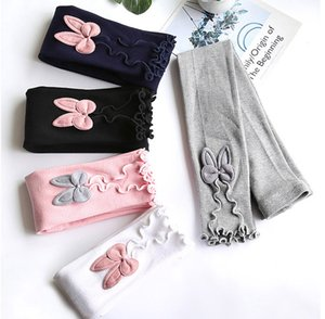 Big Girls Elastic Leggings 15 Colors Solid Tight Trousers Kids Casual Clothes Soft Skinny Pants Knitted Pencil Pants SEA 060609