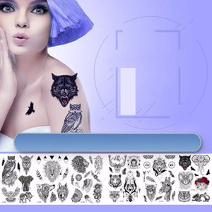 36 Design Sketch Flowers Temporary Tattoos Large Black Rose Peony Waterproof Fake For Women men PAER PAER-33 100pcs