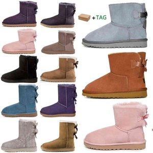2020 дизайнерские женщины австралия австралийские сапоги женщины зимний снежный меховой меховой сатин ботинки ботинок лодыжки меховой кожа на открытом воздухе боути туфли # 598