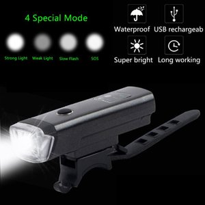 Bicycle Front Light Bike Headlight USB Charging Waterproof Easy Install Torch Cycling Equipment Accessories Lights