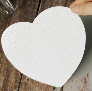 Party Favor Gift Blank Heart Shaped Puzzles 75pieces Sublimation Blanks Pearl Jigsaw DIY Puzzle Wedding Birthday Valentine's Day SN2153