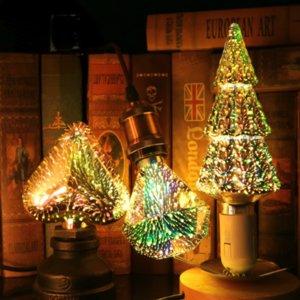 3D Decoration LED Bulb E27 6W 110V 220V Vintage Edison Light Bulb Star Fireworks Lamp Holiday Night Light Novelty Christmas Tree
