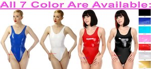 Sexy Women Short Body Suit Costumes 7 Color Shiny PVC Catsuit Costume Women's Clothing Halloween Party Fancy Dress Cosplay Bodysuit M743
