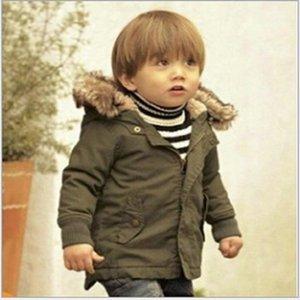 Hooyi Çocuk Aşağı Ceket Hoodies Erkek Ceket Yeşil Çocuklar Bebek Erkek Giysi Kıyafetler Kış Polar Giyim En Kaliteli 1-5Y