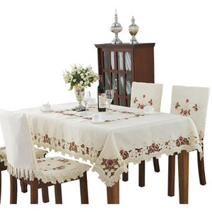 Table Cloth European Style Embroidery Rectangle Cover Decor Wedding Birthday Party Tablecloth Home Textile